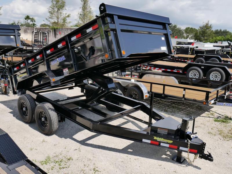 *107527* 7x14 Load Trail Dump Trailer |LRT Tandem Axle Trailers 7 x 14 | D83-14T7-24S