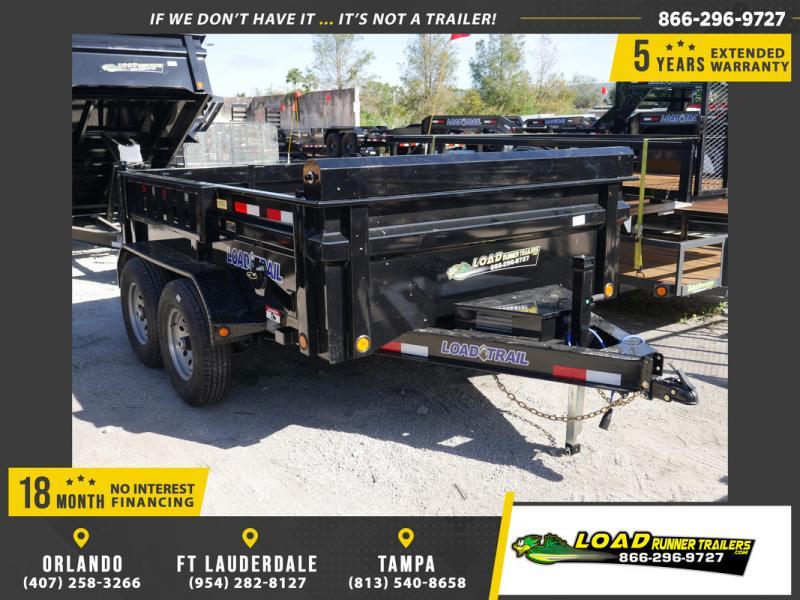 *108084* 7x10 Load Trail Dump Trailer |LRT Tandem Axle Trailers 7 x 10