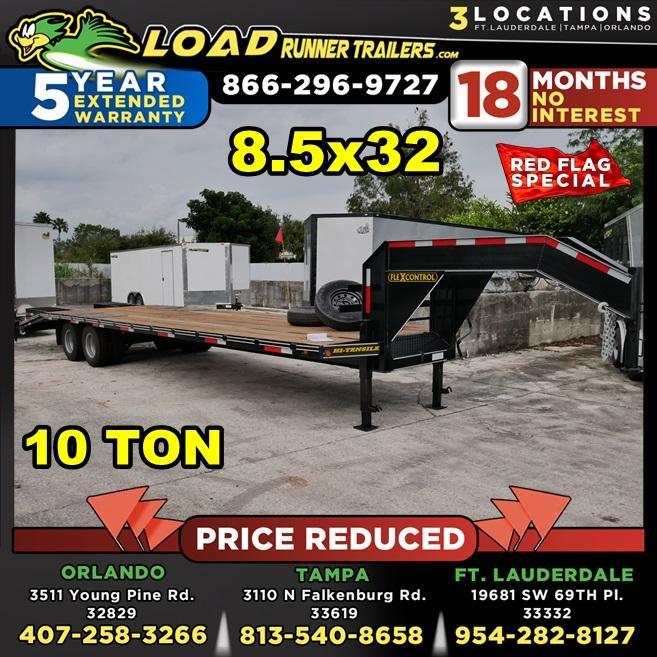 *106407* 8.5x32 Gooseneck Flatbed Deck Over Trailer |LRT Haulers & Trailers 8.5 x 32