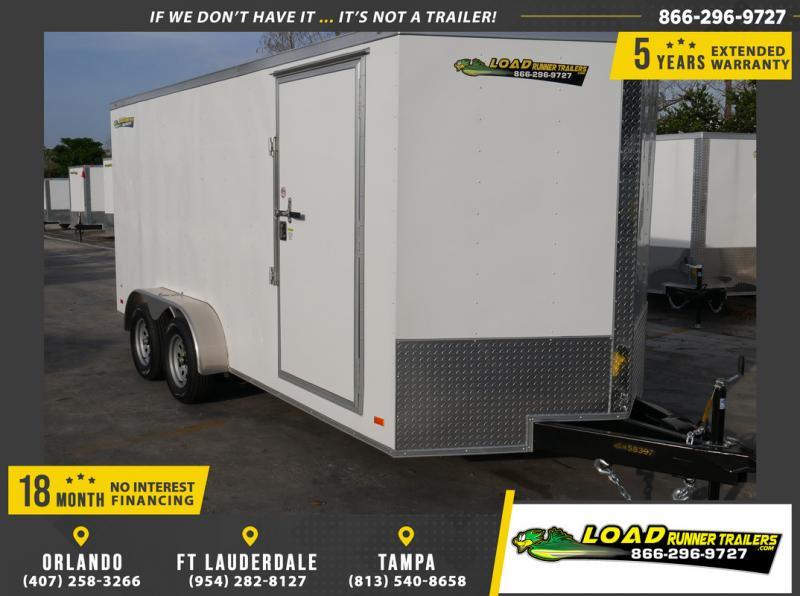 *108841* 7x16 Enclosed Cargo Trailer |LRT Tandem Axle Trailers 7 x 16
