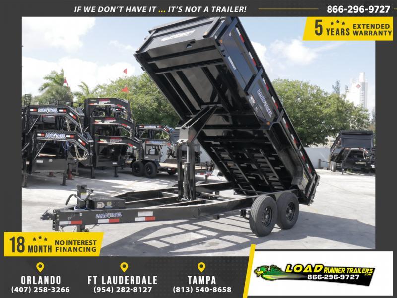 *108550* 7x16 Dump Trailer |LRT Tandem Axle Trailers 7 x 16