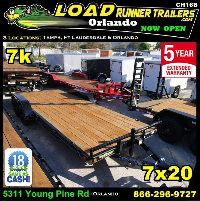 *CH16B* 7x20 7K Car Hauler Trailer w/brakes |LR Trailers & Haulers 7 x 20 | CH82-20T3-2B