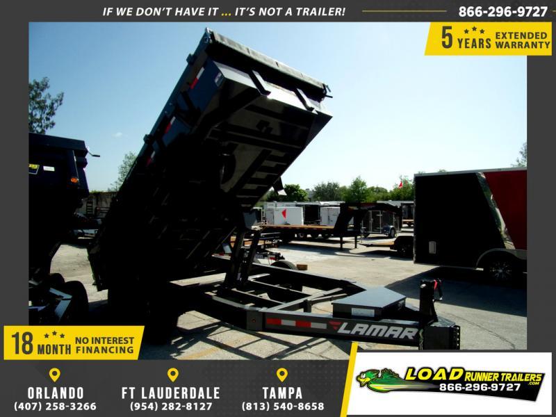 *109283* 7x14 Dump Trailer |LRT Tandem Axle Trailers 7 x 14