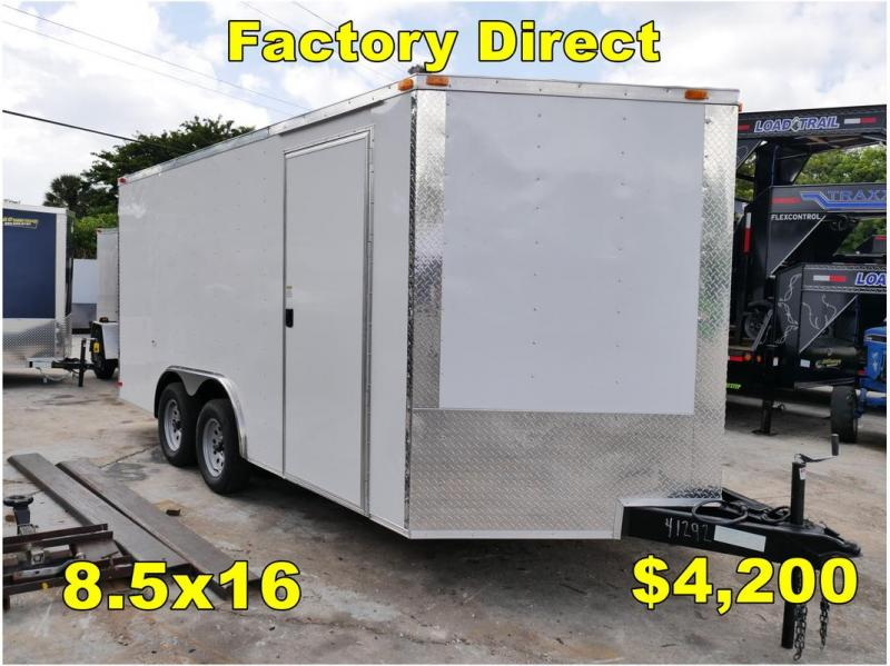 *FD29 TPA* 8.5x16 FACTORY DIRECT! | Enclosed Cargo Trailer 8.5 x 16