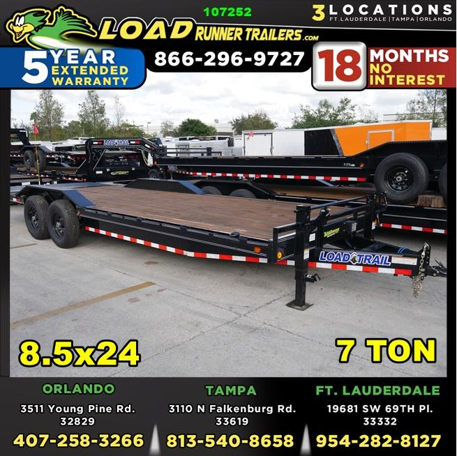 *107252* 8.5x24 Load Trail Equipment Trailer |LRT Tandem Axle Trailers 8.5 x 24