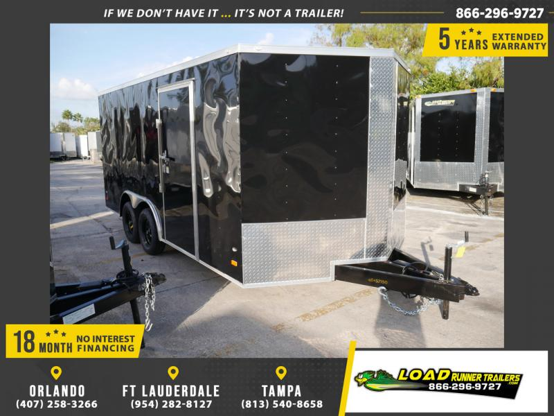 *108314* 8.5x16 Enclosed Cargo Trailer |LRT Tandem Axle Trailers 8.5 x 16