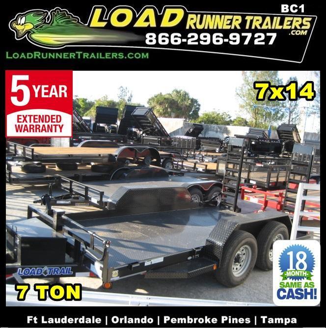 *BC1* 7x14 Bobcat Equipment Hauler Trailer LR Trailers 7 x 14   BC80-14T7-SD/KR