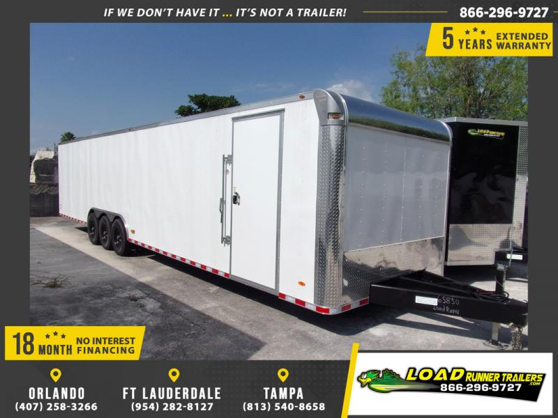 *109149* 8.5x36 Enclosed 2 Car Hauler Cargo Trailer 8.5 x 36