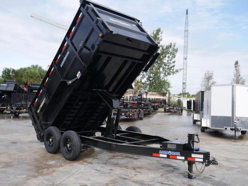 *108353* 7x14 Dump Trailer |LRT Tandem Axle Trailers 7 x 14