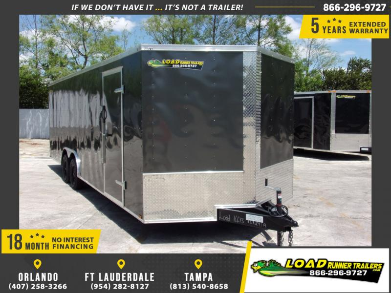 *109013* 8.5x24 Enclosed Cargo Trailer |LRT Tandem Axle Trailers 8.5 x 24