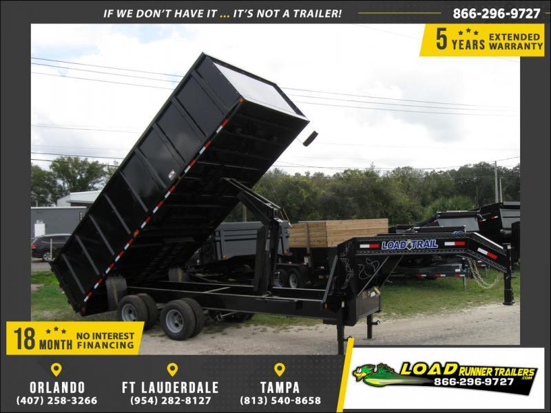 *107947* 8.5x20 HEAVY DUTY DUMP TRAILER | LRT Gooseneck Trailers 8.5 x 20