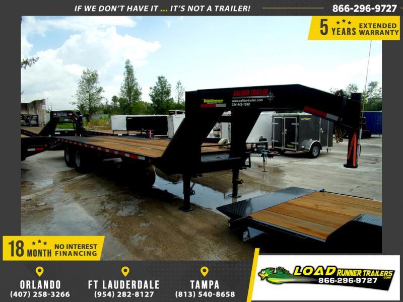 *106826* 8.5x25 Gooseneck Flatbed Deck Over Trailer |LRT Haulers & Trailers 8.5 x 25