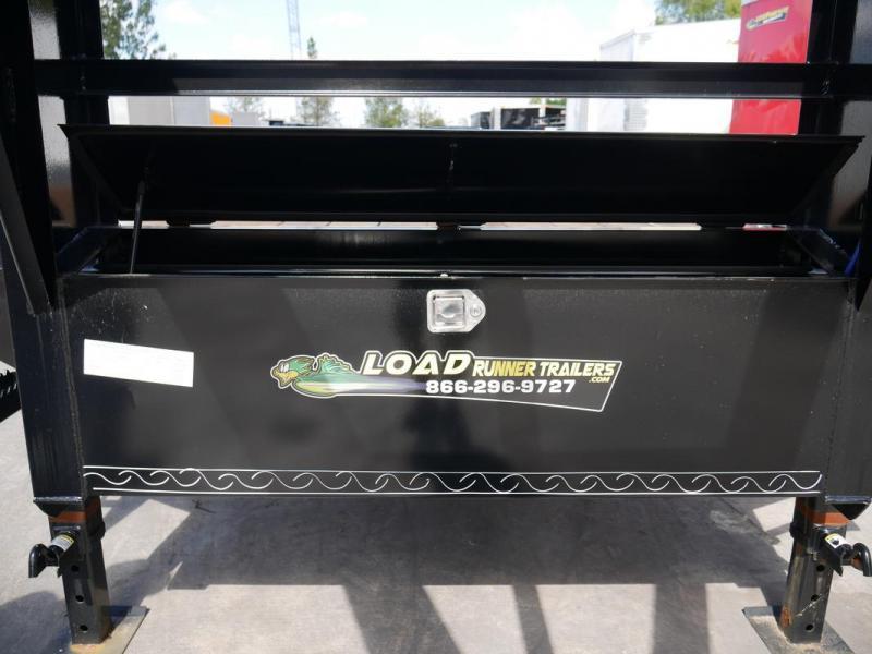 *107079* 8.5x30 Gooseneck Flatbed Deck Over Trailer |LRT Tandem Axle Trailers 8.5 x 30