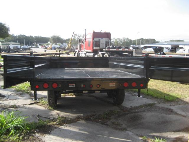 *DB33* 8x16 7 Ton Dump Trailer LR Trailers w/Fold Down Sides 8 x 16   D96-16T7-18S