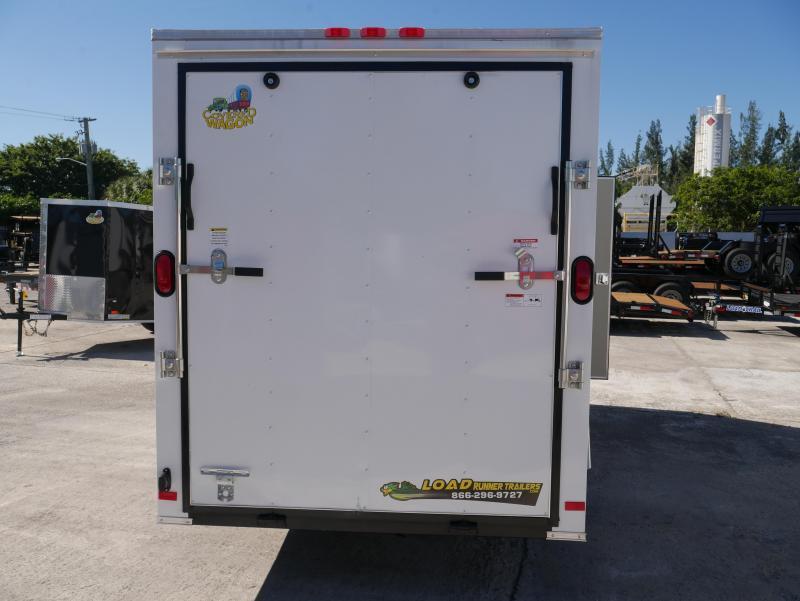 *E4M* 6X12  Enclosed Cargo Trailer LR Camping Trailers 6 x 12   EV6-12S3-R