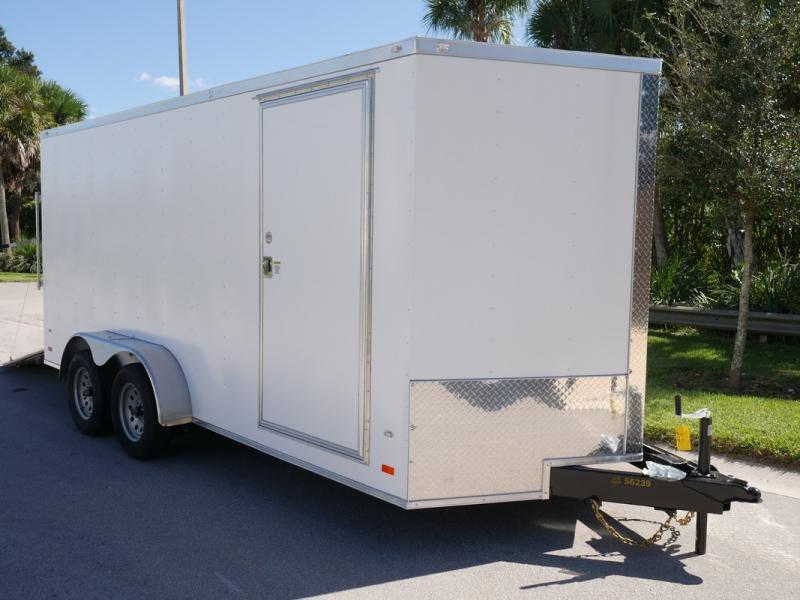 *108082* 7x16 Enclosed Cargo Trailer | TEXTURED SIDING | SCRATCH RESISTANT/HIDING 7 x 16