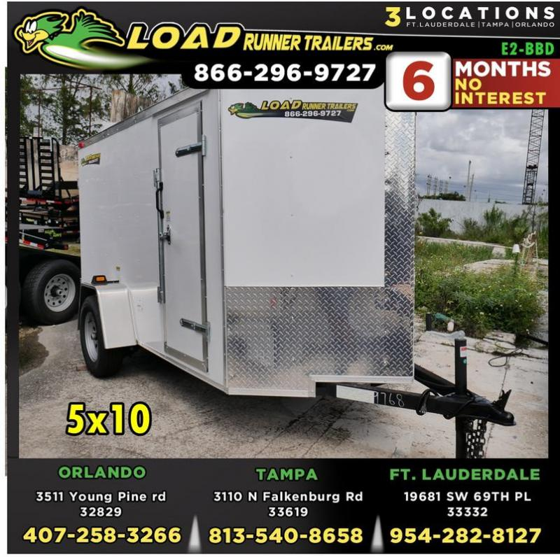 *E2-BBD* 5x10 Enclosed  Trailer Cargo Trailers 5 x 10 | EV5-10S3-DD