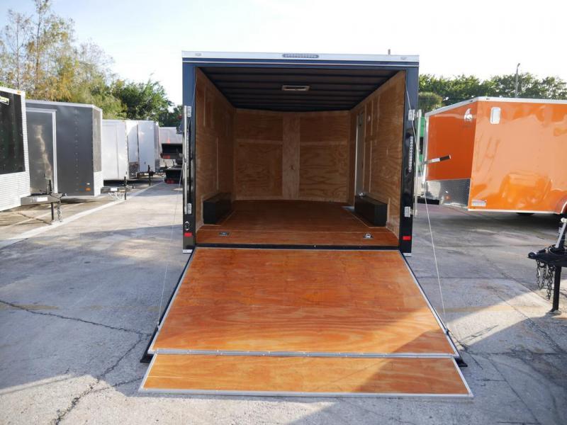 *108314* 8.5x16 Enclosed Cargo Trailer  LRT Tandem Axle Trailers 8.5 x 16
