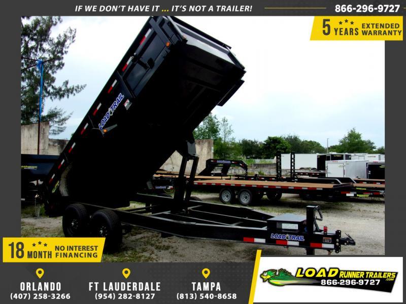*109151* 7x16 Dump Trailer |LRT Tandem Axle Trailers 7 x 16