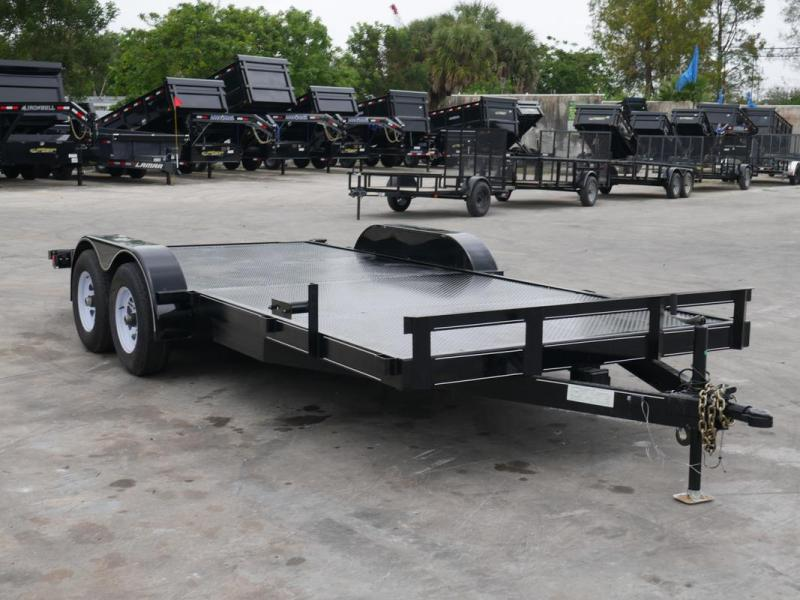 *108024* 7x18 Car Trailer |LRT Tandem Axle Trailers 7 x 18