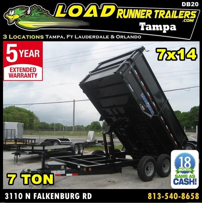 *DB20* 7x14 7k Dump Trailer W/4Ft Sides Load Trail Trailers 7 x 14 | D83-14T7-24S+24