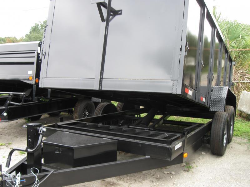 "*107789* 8x16 Load Trail Triple Axle Dump Trailer w/4' Sides LRT Trailers | 48"" 8 x 16"