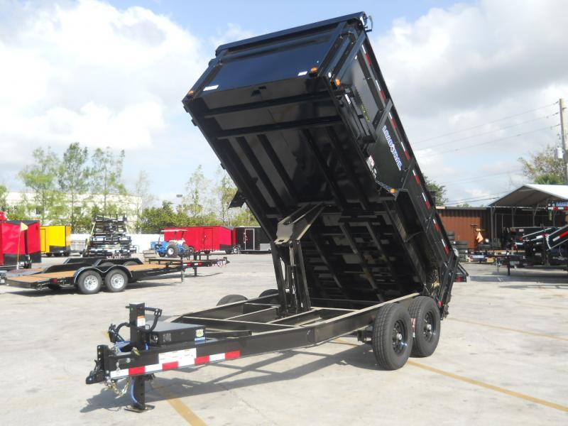*DB21* 7x14 7 TON Dump Trailer W/3Ft Sides  Dumps & Trailers 7 x 14   D83-14T7-36S