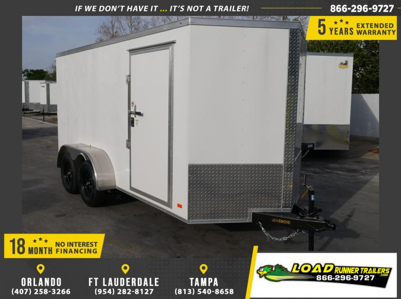 *108903* 6x14 Enclosed Cargo Trailer |LRT Tandem Axle Trailers 6 x 14