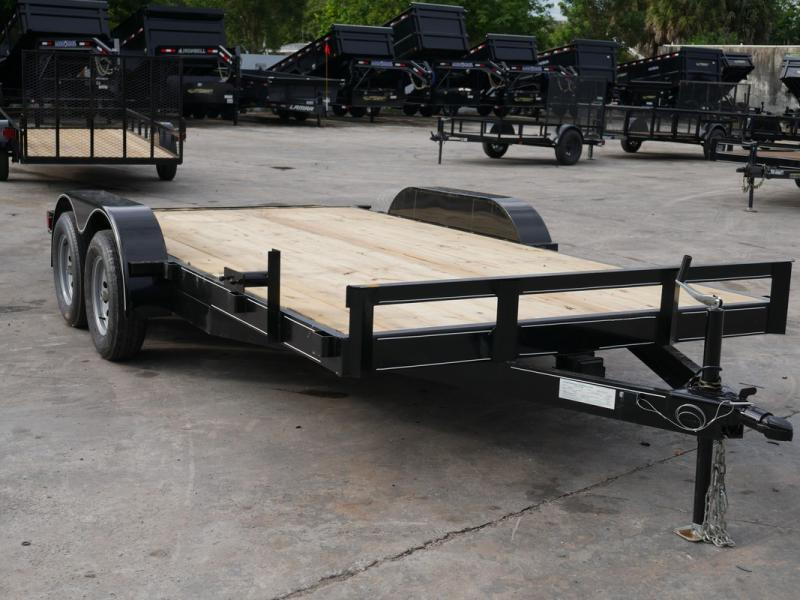 *108021* 7x16 Car Hauler Trailer |LRT Tandem Axle Trailers 7 x 16