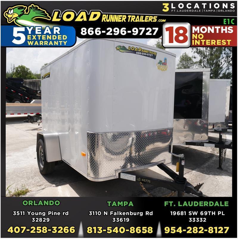 *E1C* 5x8 Enclosed  Trailer Cargo Trailers 5 x 8   EF5-8S3-R