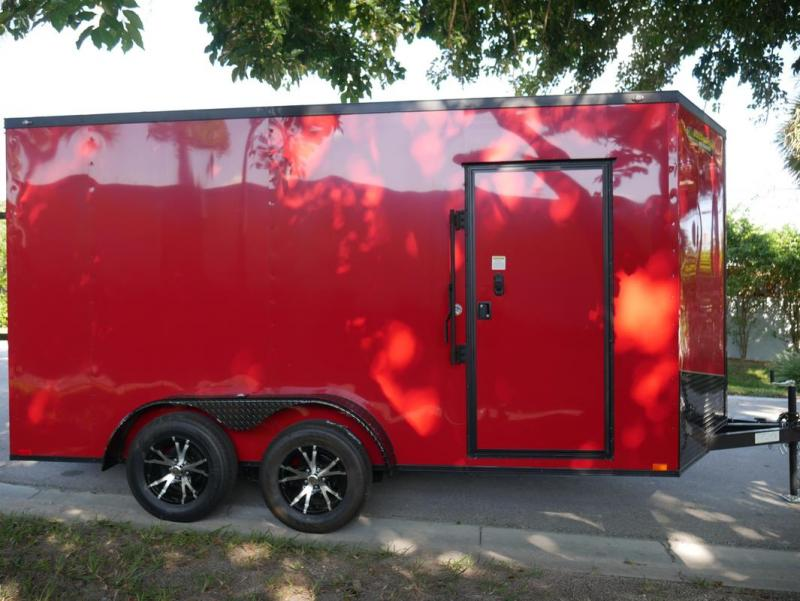 *E8G* 7x14 Door on Nose | 5 Yr Warranty Enclosed Cargo Trailer 7 x 14 | EV7-14T3-R