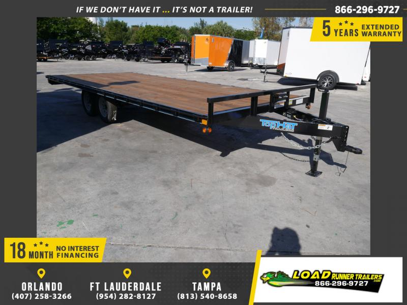 *107870* 8.5x20 Flatbed Deck Over Trailer |Bumper Pull Trailers 8.5 x 20