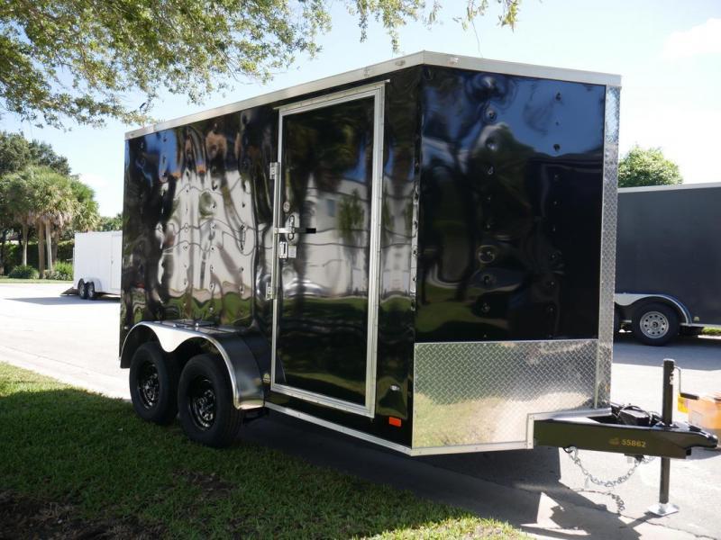 *108080* 7x12 Enclosed Cargo Trailer |LRT Tandem Axle Trailers 7 x 12 | EV7-12T3-R