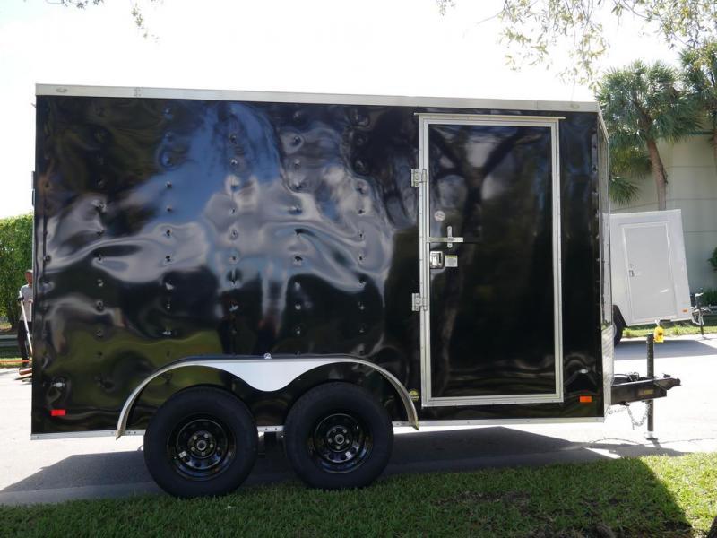 *108080* 7x12 Enclosed Cargo Trailer |LRT Tandem Axle Trailers 7 x 12