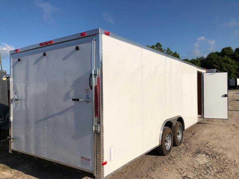 *E12-BB* 8.5x24 ENCLOSED CARGO TRAILER |LR Car Hauler Trailers 8.5 x 24 | EV8.5-24T3-R