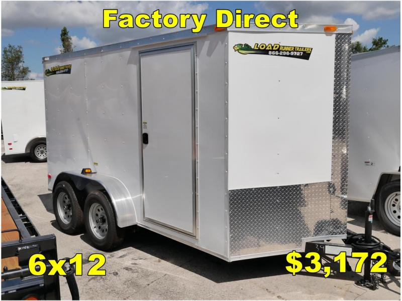 *FD14 TPA* 6x12 FACTORY DIRECT!| Enclosed Cargo Trailer |Trailers 6 x 12