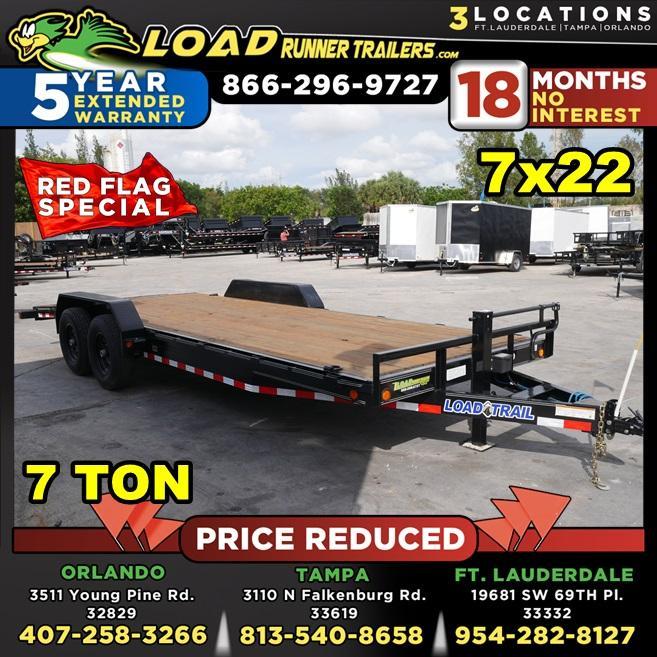 *105999* 7x22 Load Trail Car Trailer |LRT Tandem Axle Trailers 7 x 22