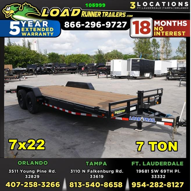 *105999* 7x22 Load Trail Car Trailer |LRT Tandem Axle Trailers 7 x 22 | CH83-22T7