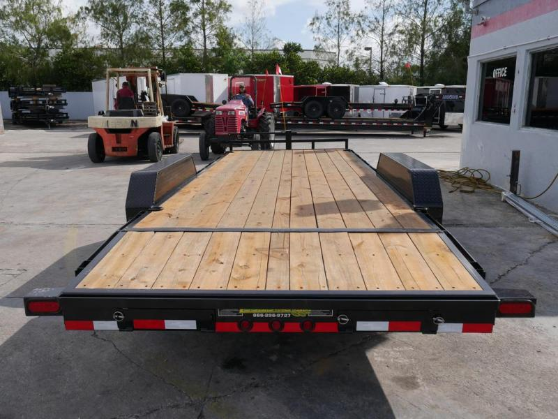 *105999* 7x22 Load Trail Car Trailer |LRT Tandem Axle Trailers 7 x 22