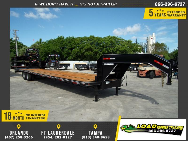 *109134* 8.5x40 Gooseneck Flatbed Deck Over Trailer |LRT Haulers & Trailers 8.5 x 40