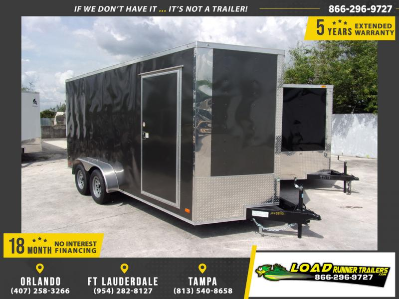 *109267* 7x16 Enclosed Cargo Trailer |LRT Tandem Axle Trailers 7 x 16