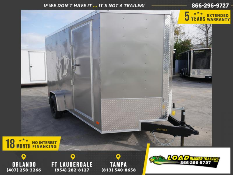 *108421* 7x12 Enclosed Cargo Trailer |LRT Haulers & Trailers 7 x 12