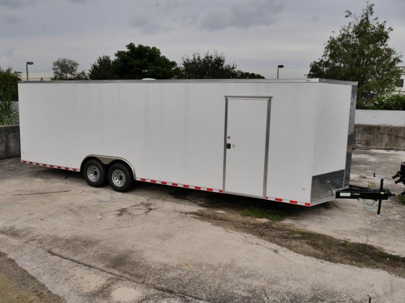 *107825* 8.5x28 Enclosed Cargo Trailer  LRT Tandem Axle Trailers 8.5 x 28   EV8.5-28T7-R