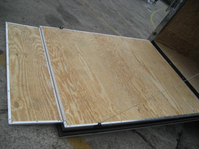 *E5B* 6x12 Enclosed Cargo Trailer Box Covered 6 x 12   EV6-12T3-R