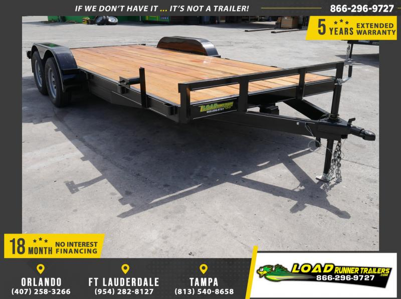 *108650* 7x18 Car Hauler Trailer |LRT Tandem Axle Trailers 7 x 18