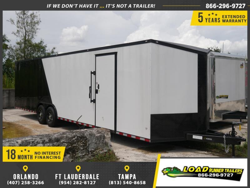 *E18* 8.5x30 Enclosed Car Hauler Trailer Cargo Trailers 8.5 x 30   EV8.5-30T7-R