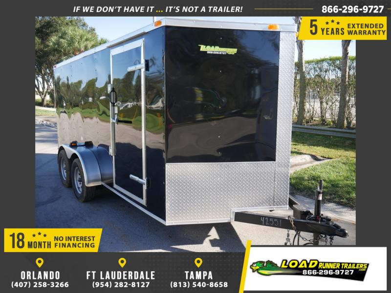 *108457* 7x14 Enclosed Cargo Trailer |LRT Tandem Axle Trailers 7 x 14