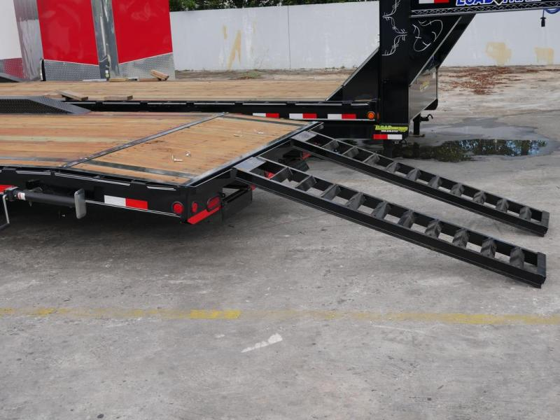 *107390* 8.5x36 Load Trail Gooseneck Car Trailer | Drive Over Fenders Trailers 8.5 x 36