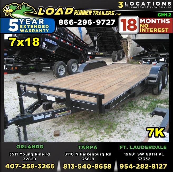 *CH12* 7x18 7K Car Hauler Trailer w/Brakes Trailers & Haulers 7 x 18   CH82-18T3-1B