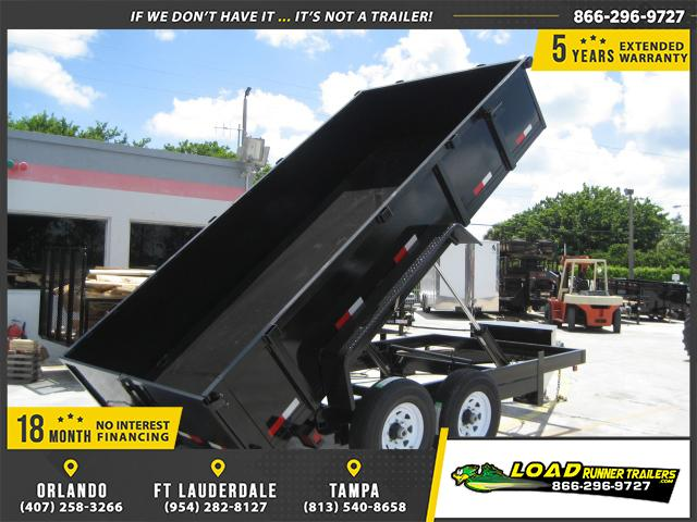 *DB55* 7x14 7 TON Twin Piston Dump Trailer LRT Dumps and Trailers 7 x 14 | D82-14T7-24S